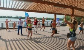 В районе Строгино стартовал «Фитнес марафон»