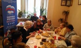 Единороссы Южного Тушина встретили Масленичную неделю песнями и блинами