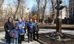 День космонавтики единороссы района Покровское-Стрешнево отпраздновали у памятника Циолковскому