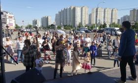 В районе Митине прошел торжественный концерт ко Дню России